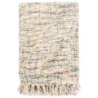 vidaXL Pătură decorativă, 160 x 210 cm, roz/alb/gri