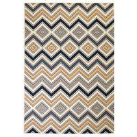 vidaXL Covor modern Design zigzag 120x170 cm Maro/negru/albastru