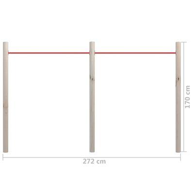 vidaXL Bară de gimnastică de grădină, 272x170 cm, lemn pin tratat&oțel
