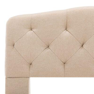 vidaXL Cadru de pat, bej, 180 x 200 cm, material textil