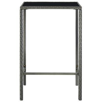 vidaXL Set mobilier bar de grădină, cu perne, 3 piese, gri, poliratan