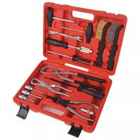 vidaXL Set de unelte pentru montarea și întreținerea frânei, 15 piese