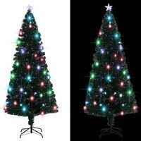 vidaXL Brad artificial de Crăciun cu suport/LED, 210 cm, 280 ramuri