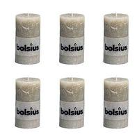 Bolsius Lumânare bloc rustică, 6 buc., ardezie, 130 x 68 mm