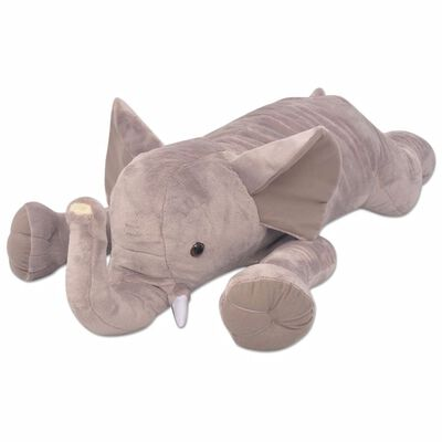 vidaXL Elefant de pluș de jucărie XXL, 95 cm