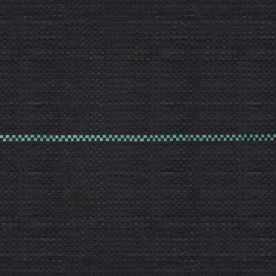 vidaXL Membrană antiburuieni & antirădăcini, negru, 2x100 m, PP