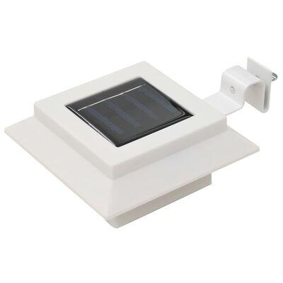 vidaXL Lămpi solare de exterior, 12 buc., alb, 12 cm, pătrat, LED