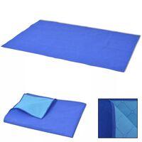vidaXL Pătură pentru picnic, albastru și bleu, 150 x 200 cm