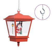 vidaXL Felinar suspendat cu LED și Moș Crăciun, roșu, 27x27x45 cm