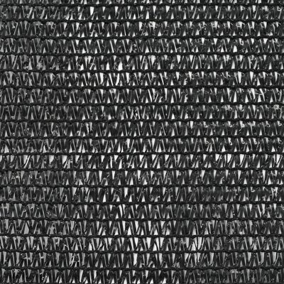 vidaXL Plasă teren de tenis, negru, 2 x 25 m, HDPE