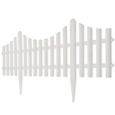 Gard pentru peluză Alb 17 buc / 10 m, Alb
