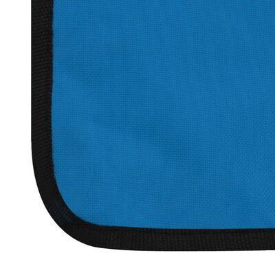 vidaXL Saltele plajă pliabile 2 buc, albastru, oțel și material textil