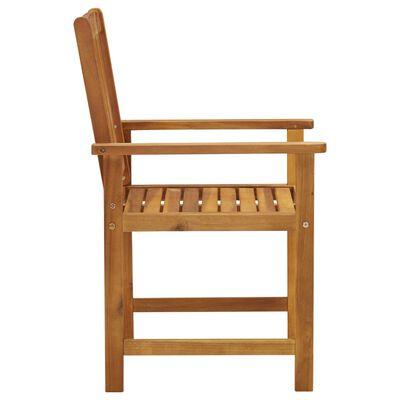 vidaXL Scaune regizor cu perne, 4 buc., lemn masiv acacia