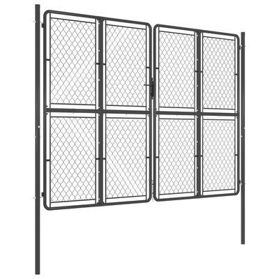 vidaXL Poartă de grădină, antracit, 300 x 200 cm, oțel