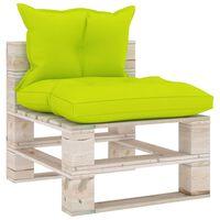 vidaXL Canapea de grădină din paleți, de mijloc, cu perne, lemn pin
