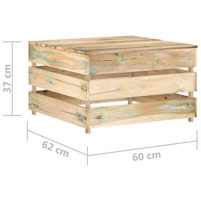 vidaXL Set mobilier de grădină paleți, 2 piese, lemn pin tratat