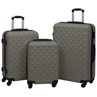 vidaXL Set de valize cu carcasă rigidă, 3 piese, antracit, ABS