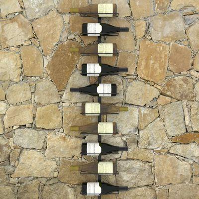 vidaXL Suporturi sticle de vin montaj pe perete 10 sticle negru metal