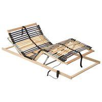 vidaXL Bază de pat electrică cu șipci, 42 șipci, 7 zone, 100 x 200 cm