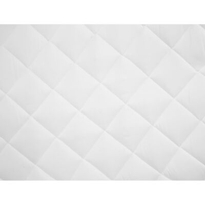 vidaXL Protecție pentru saltea matlasată, alb, 160 x 200 cm, groasă