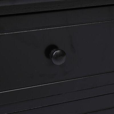 vidaXL Comodă TV, negru, 115 x 30 x 40 cm, lemn de paulownia