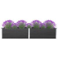 vidaXL Strat înălțat de grădină, gri, 300 x 100 x 54 cm, WPC