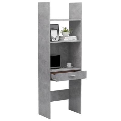 vidaXL Bibliotecă, gri beton, 60x35x180 cm, PAL