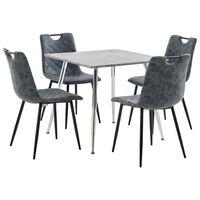 vidaXL Set mobilă de bucătărie, 3 buc., negru, piele ecologică