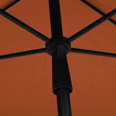 vidaXL Umbrelă de grădină cu stâlp, cărămiziu, 210x140 cm