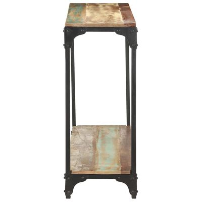 vidaXL Masă consolă, 110x30x75 cm, lemn masiv reciclat