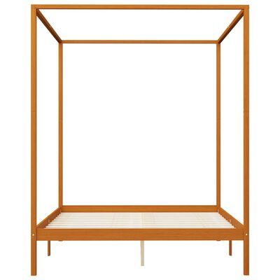 vidaXL Cadru pat cu baldachin, 4 sertare, 160x200 cm, lemn masiv pin