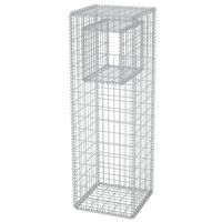 vidaXL Stâlp coș gabion/jardinieră din oțel, 50 x 50 x 160 cm