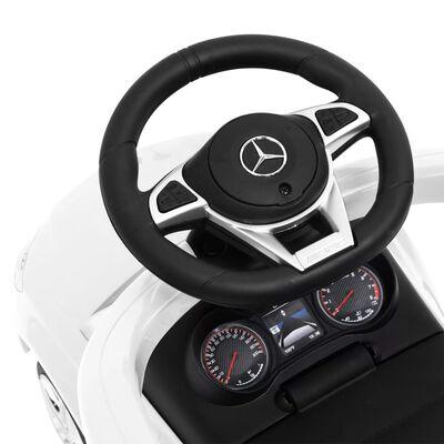 vidaXL Mașinuță cu împingere Mercedes-Benz C63, alb