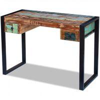 vidaXL Birou, lemn masiv reciclat
