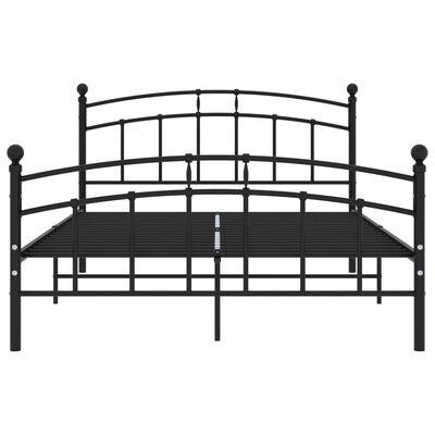 vidaXL Cadru de pat, negru, 200 x 200 cm, metal