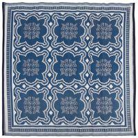 Esschert Design Covor de exterior, albastru & alb, 151,5 cm, OC23