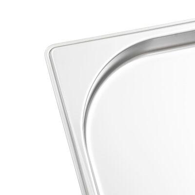 vidaXL Recipiente Gastronorm 8 buc. GN 1/2 20 mm oțel inoxidabil