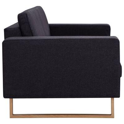 vidaXL Set de canapele, 2 piese, negru, material textil