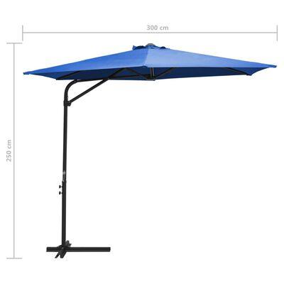 vidaXL Umbrelă soare de exterior stâlp din oțel albastru azur 300 cm