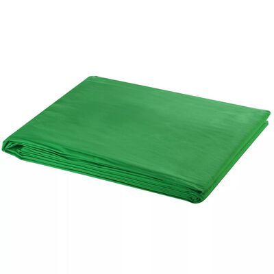 vidaXL Fundal foto, bumbac, verde, 300 x 300 cm, Chroma Key