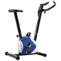 vidaXL Bicicletă de fitness cu centură de rezistență, albastru