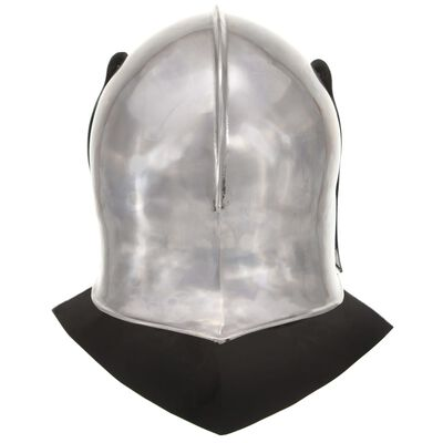 vidaXL Coif cavaler medieval antic, jocuri de rol, argintiu, oțel