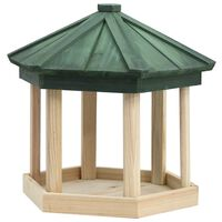 vidaXL Hrănitor pentru păsări octogonal, 33x30 cm, lemn masiv de brad