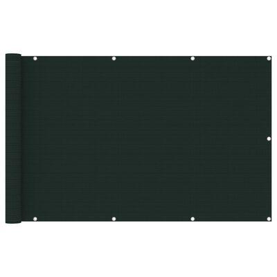 vidaXL Paravan pentru balcon, verde închis, 120x600 cm, HDPE