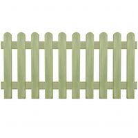 vidaXL Gard din țăruși, 170 x 80 cm 6/9 cm, lemn de pin tratat