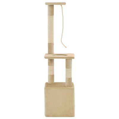 vidaXL Ansamblu pisici cu stâlpi din funie de sisal, 109 cm, bej