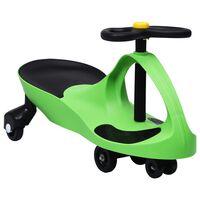 vidaXL Mașinuță tip balansoar fără pedale cu claxon, verde
