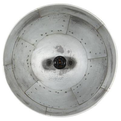 vidaXL Lustră industrială vintage, 25 W, argintiu, rotund, 31 cm E27