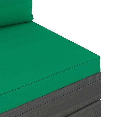 vidaXL Set mobilier grădină paleți cu perne, 10 piese, lemn masiv pin