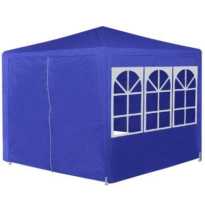 42347 vidaXL Marquee with 6 Side Walls Blue 2x2 m